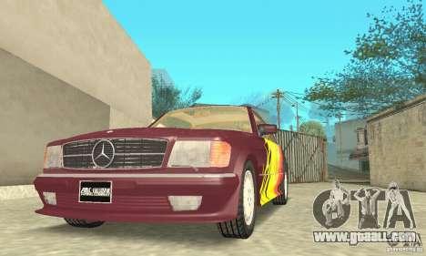 Mercedes-Benz W126 560SEC for GTA San Andreas engine