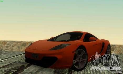 McLaren MP4-12C for GTA San Andreas