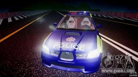 Subaru Impreza WRX Police [ELS] for GTA 4 engine