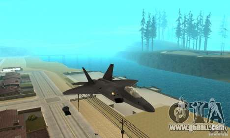 F-22 Black for GTA San Andreas back view
