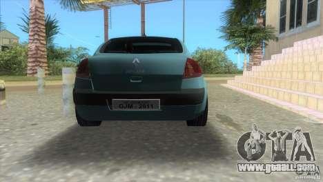 Renault Megane Sedan for GTA Vice City left view