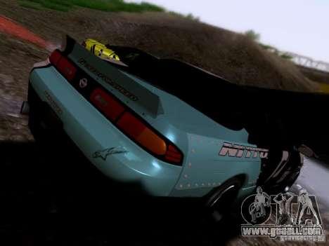Nissan Silvia S14 Matt Powers v4 2012 for GTA San Andreas back left view
