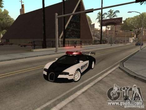 Bugatti Veyron Police for GTA San Andreas