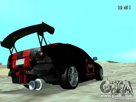 Toyota Altezza NKS Drift for GTA San Andreas back left view