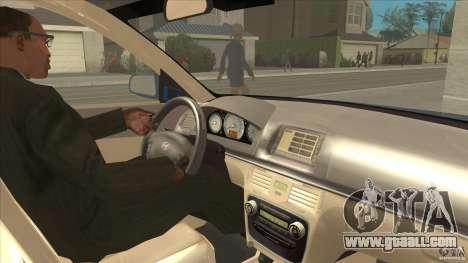 Hyundai Sonata NF for GTA San Andreas inner view