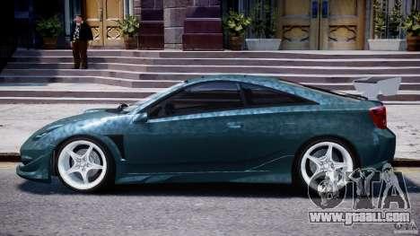 Toyota Celica Tuned 2001 v1.0 for GTA 4 back left view