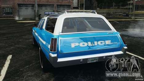 Oldsmobile Vista Cruiser 1972 Police v1.0 [ELS] for GTA 4 back left view