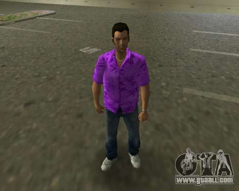 Violet shirt for GTA Vice City