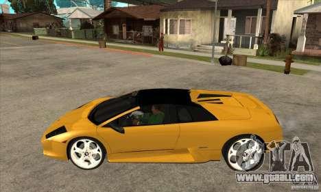 Lamborghini Murcielago Roadster Final for GTA San Andreas left view