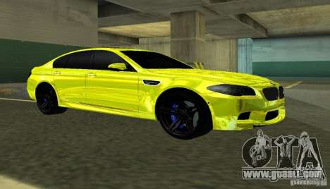 BMW M5 F10 Gold for GTA San Andreas left view