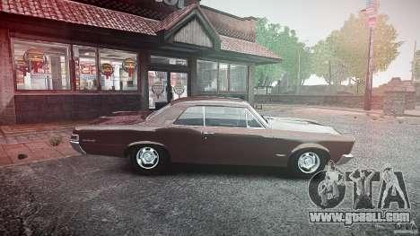 Pontiac GTO 1965 for GTA 4 left view