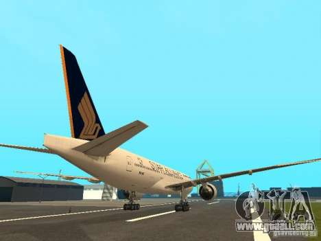 Boeing 777-200 Singapore Airlines for GTA San Andreas right view