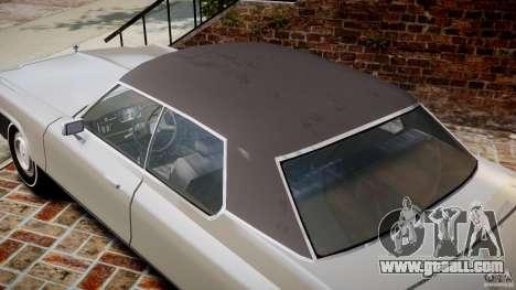 Dodge Monaco 1974 for GTA 4 upper view