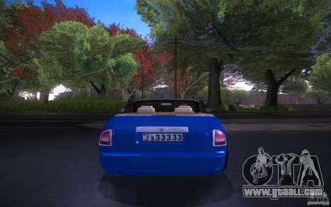 Rolls-Royce Phantom Drophead Coupe for GTA San Andreas back left view
