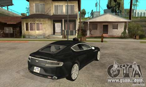 Aston Martin Rapide 2010 for GTA San Andreas right view