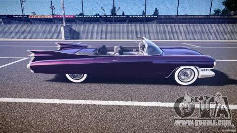 Cadillac Eldorado 1959 interior black for GTA 4 side view