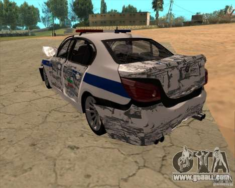 BMW M5 E60 DPS for GTA San Andreas bottom view