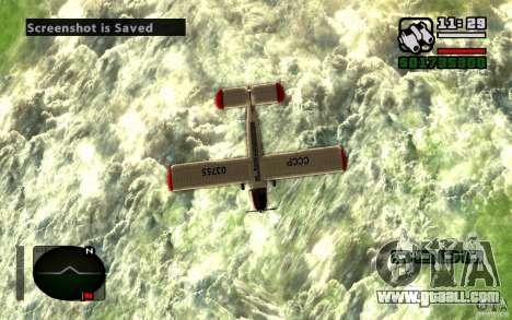 Antonov an-2 for GTA San Andreas back view
