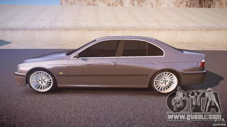 BMW 530I E39 stock white wheels for GTA 4 left view