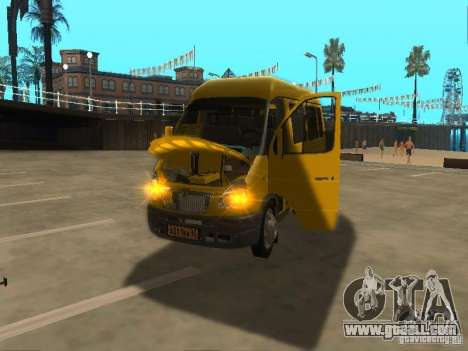 Gazelle 2705 taxi for GTA San Andreas right view