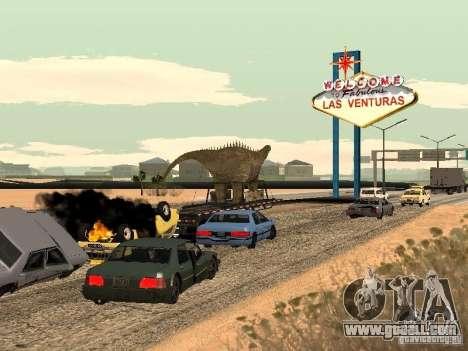 Dinosaur Trailer for GTA San Andreas right view