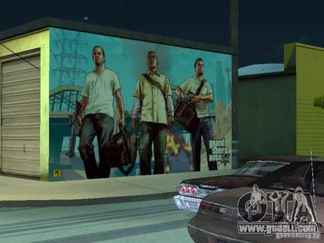 Poster Of GTA V for GTA San Andreas fifth screenshot