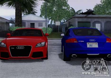 Audi TT-RS Coupe for GTA San Andreas interior