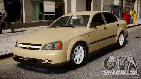 Chevrolet Evanda for GTA 4 left view