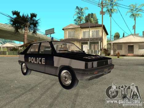 Renault 11 Police for GTA San Andreas back left view