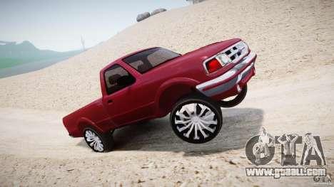 Ford Ranger for GTA 4 bottom view