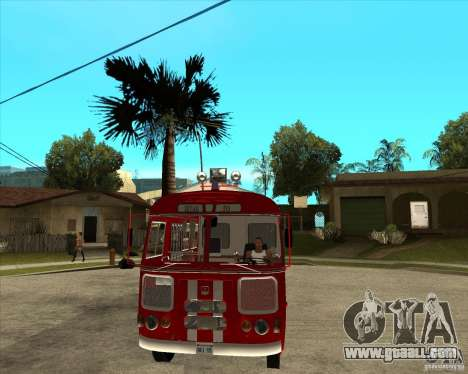 Firefighter PAZ 672 for GTA San Andreas back view