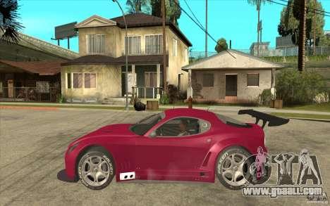 Alfa Romeo 8C GT3 RSX for GTA San Andreas left view