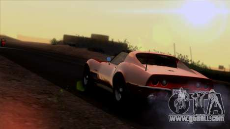 Chevrolet Corvette C3 Stingray T-Top 1969 v1.1 for GTA San Andreas upper view