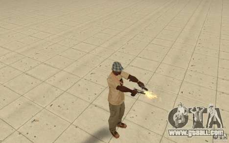 Different styles of pistol 9 mm for GTA San Andreas
