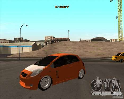 Toyota Yaris II Pac performance for GTA San Andreas right view