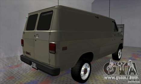 GMC Vandura G-1500 1983 for GTA San Andreas back left view