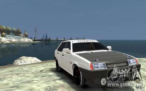 VAZ 21099 for GTA 4 back view