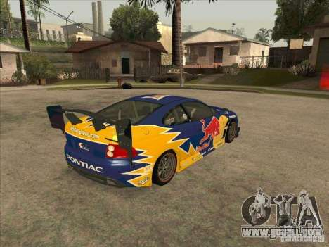 Pontiac GTO Red Bull for GTA San Andreas right view