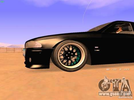 BMW M5 E39 Stanced for GTA San Andreas inner view