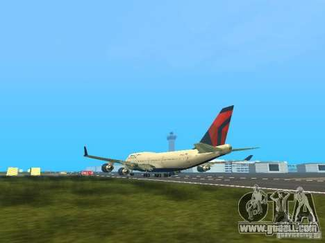 Boeing 747-400 Delta Airlines for GTA San Andreas back left view