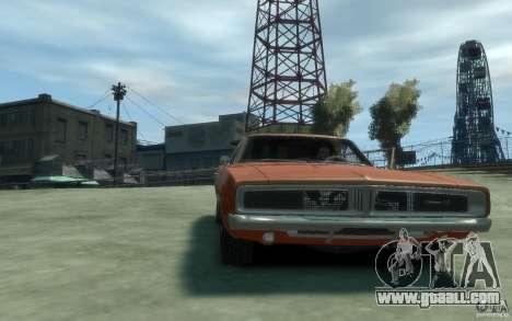 Dodge Charger General Lee v1.1 for GTA 4 back view