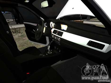 BMW M5 for GTA 4 interior