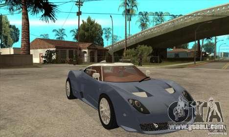 Spyker C12 Zagato for GTA San Andreas back view