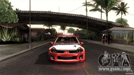Renault Clio V6 Sport Track Car for GTA San Andreas left view