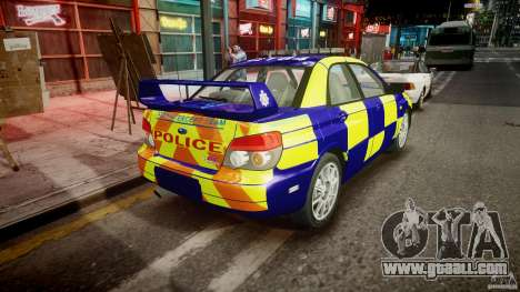 Subaru Impreza WRX Police [ELS] for GTA 4 side view