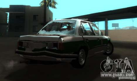 BMW E30 Sedan Police for GTA San Andreas right view