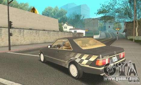 Mercedes-Benz W126 560SEC for GTA San Andreas inner view