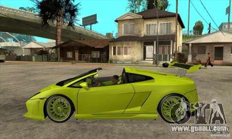 Lamborghini Gallardo LP560-4 Hamann for GTA San Andreas left view