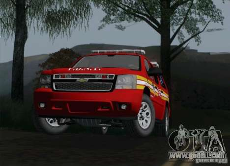 Chevrolet Suburban EMS Supervisor 862 for GTA San Andreas right view