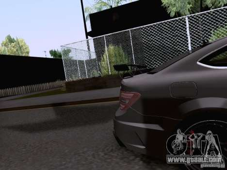 Mercedes-Benz C63 AMG Coupe Black Series for GTA San Andreas side view